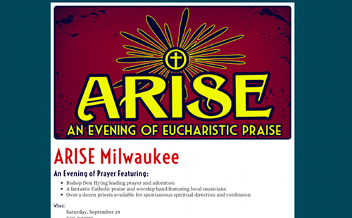 Arise Milwaukee website preview